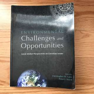 Environmental Challenge And Opportunity