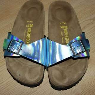 Holographic Blue Birkenstocks