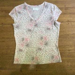 Printed Pink Blouse