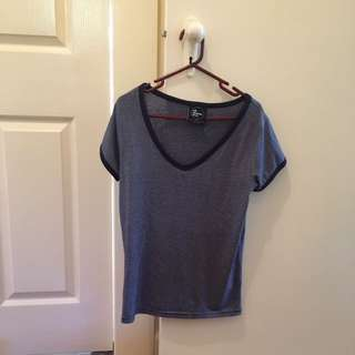 All About Eve - striped blue t-shirt