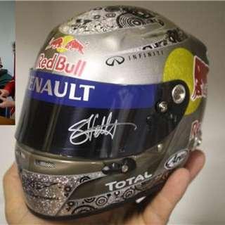 MINICHAMPS: 1:2 Scale Sebastian Vettel Helmet