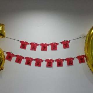 (Deal Now @$13) Selling Used One Time Birthday Banner  - Liverpool