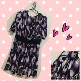 Violet and black blouse
