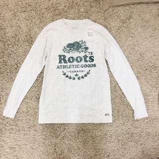 Roots 女長袖薄t恤 S號全新