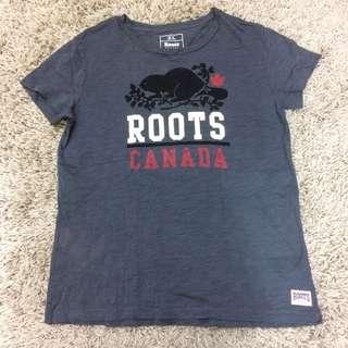 Roots 女短袖T恤 M號