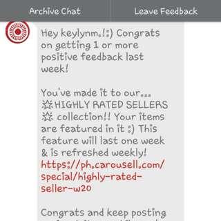 Thankz Carousell :-) :-) :-)