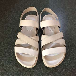 Charles & Keith White Sandals 37