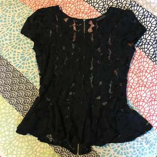 Ladies Lace mesh Top