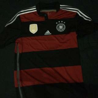Adidas Germany 4 star Champion soccer jersey away 2014-2015