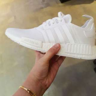 Triple White NMD's