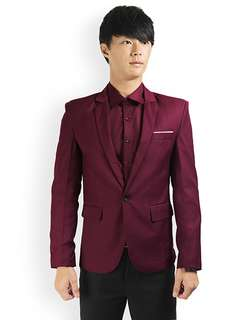 PROMOTION! Maroon Blazer For PROM NIGHT!