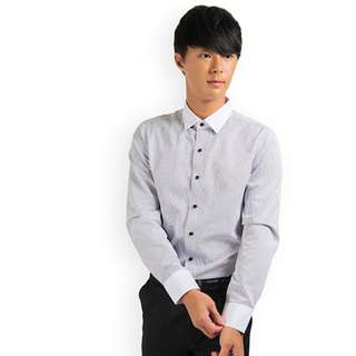 PROMOTION! Black Stripe Shirt For Prom Night