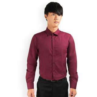 PROMOTION! Maroon Shirt For Prom Night