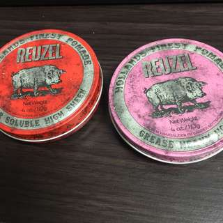紅豬、粉紅豬,水性髮油、油性髮油