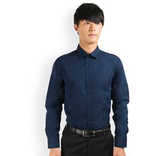 PROMOTION! Navy Shirt For Prom Night