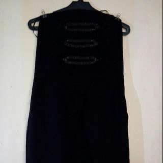 Black Tulip Tube Dress