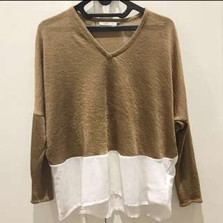 Gold Light Sweater - Zara