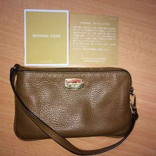 Authentic MK Small Leather wristlet