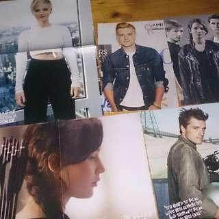 Jennifer Lawrence & Hunger Games Posters