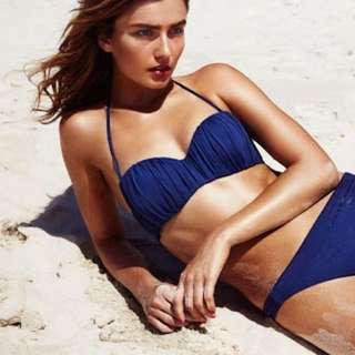 H&M Blue caged Bikini Top