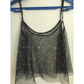 Hanging Sheer floral top