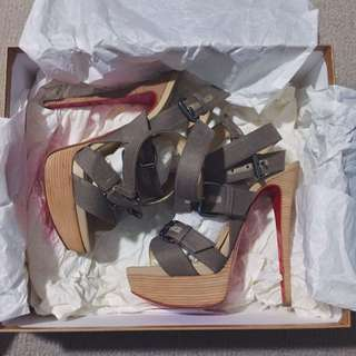 Christian Louboutin Toutenkaboucle 150 Buckle Sandals