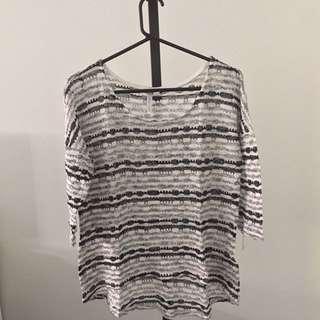Stripe Glitter Sweater