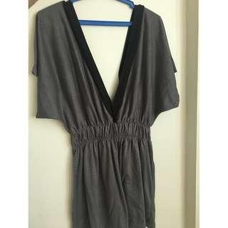 grey kimono dress
