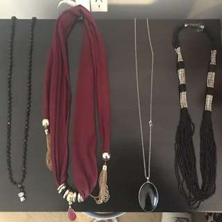 Women's Long Necklace Bundle