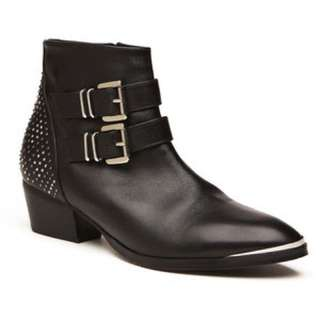 Witchery black sienna studded Ankle boots size 38 7.5 RRP$230