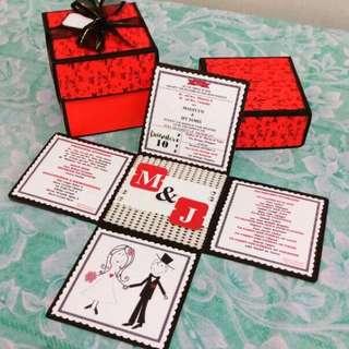 Invitation Letter Explosion Box