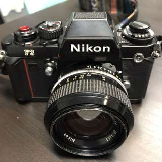 Nikon F3 Film Camera With Nikon 50mm f1.4