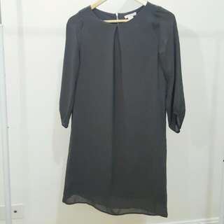 H&M DRESS Grey 3/4 Sleeves