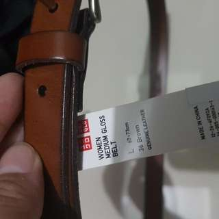 Uniqlo Dark Brown Genuine Leather Belt