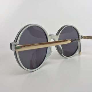 River Island Blue Round Sunglasses