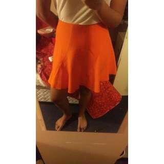 Orange Zara Skirt