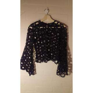 ACHE Lace Flared Sleeve Top