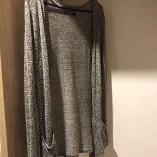 Ladies Grey Knit Cardigan