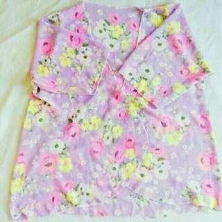 Lavander Floral Kimono