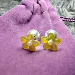RRP $90 Pearl Studded Earrings By Fleur Envy