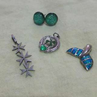 SALE!! Pendant Collection Plus Northern Lights Earings From Alaska
