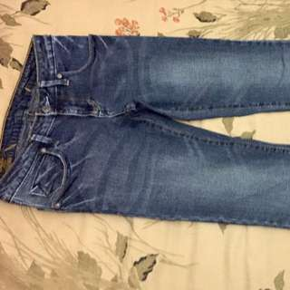 Lee Straight Cut Faded Blue Jeans
