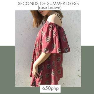Seconds Of Summer Dress (rose Brown)