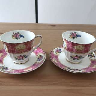 Preloved Robert Gordon Australia tea sets with saucers
