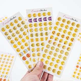 😀現貨免運 Emoji表情符號貼紙 一組3入