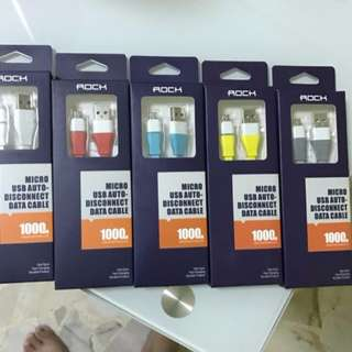 Brand New Authentic Rock micro usb auto disconnect cable for sale!