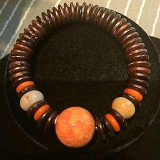 天然珊瑚石手環