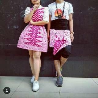 Dress Batik Tumpal