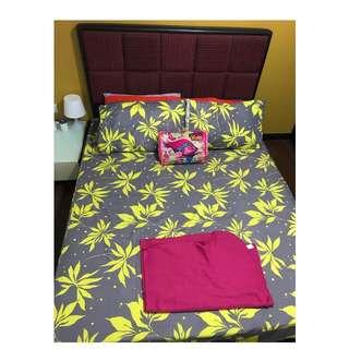 Queen Size Bed Frame + Mattress