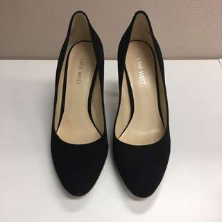 Black Nine West Suede Pump Heels Size 6.5